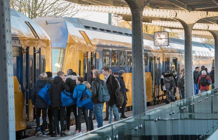 Het treinstation in Harderwijk.