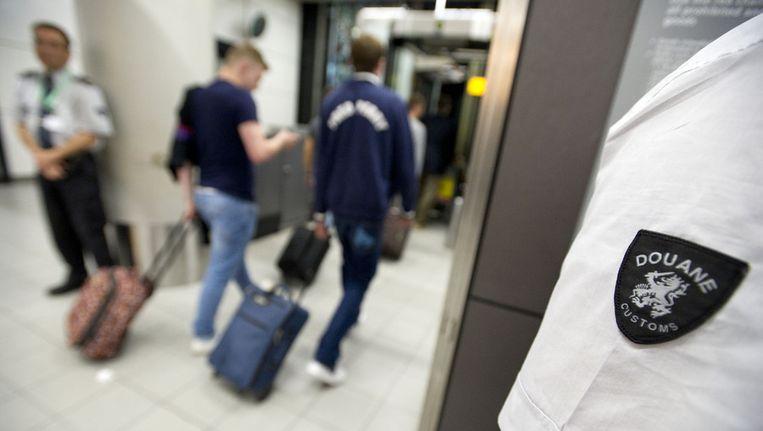 De douane op Schiphol.