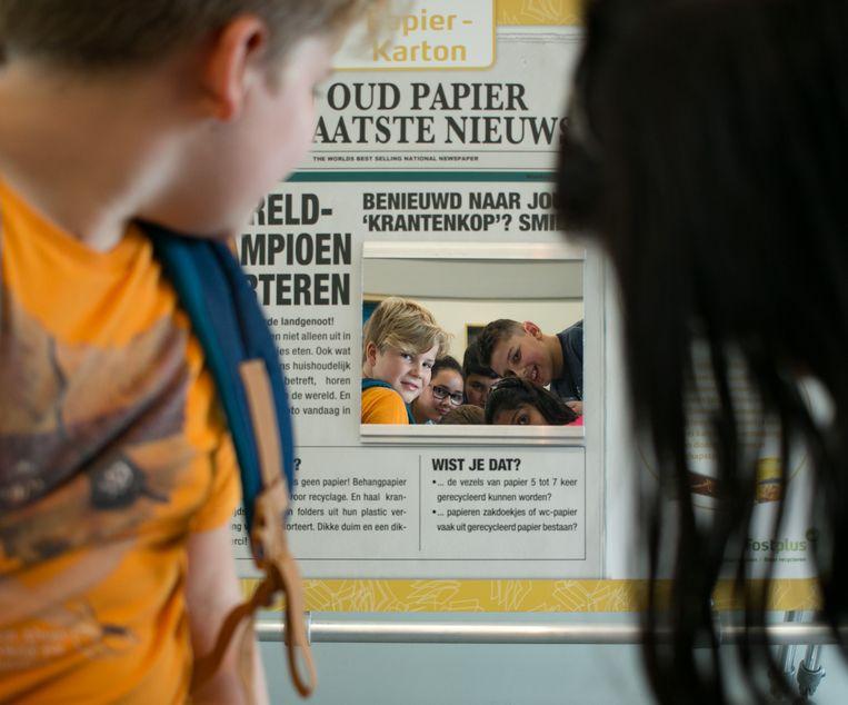In de nieuwe, educatieve ruimte is een interactieve tentoonstelling rond afval ondergebracht.