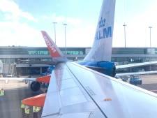 Vliegtuigen KLM en Easyjet botsen bij taxiën op Schiphol