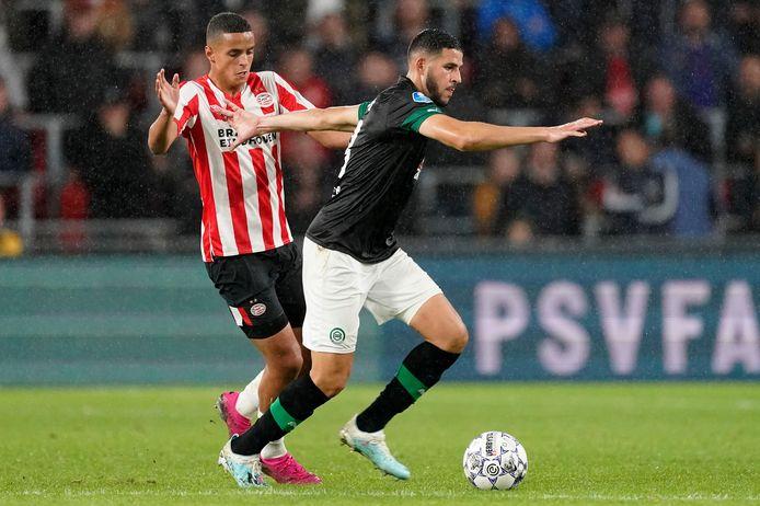 Ahmed El Messaoudi (rechts) kan voor het eerst sinds 2015 minuten maken in het shirt van Marokko.