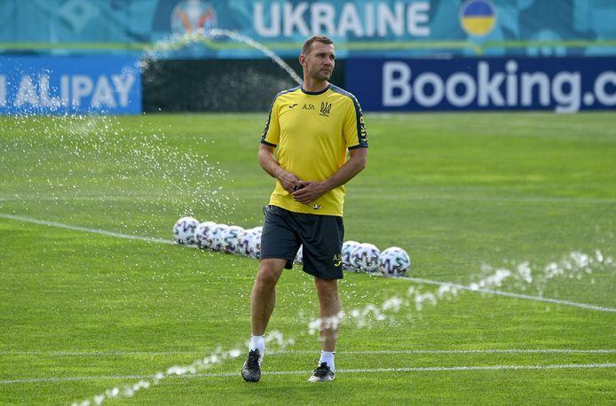 Andrei Sjevtsjenko, de bondscoach van Oekraïne.