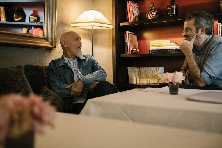 Malkovich met reporter Rik Van Puymbroeck.