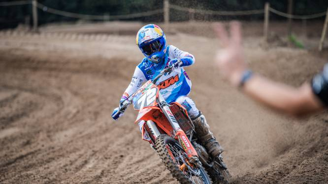 Liam Everts debuteert in MX2 met dertiende plek, Jago Geerts valt net naast podium
