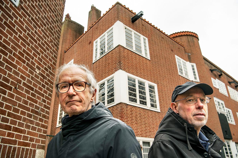 Actievoerders Jan Leegwater en Boudewijn Rückert Beeld Guus Dubbelman / de Volkskrant