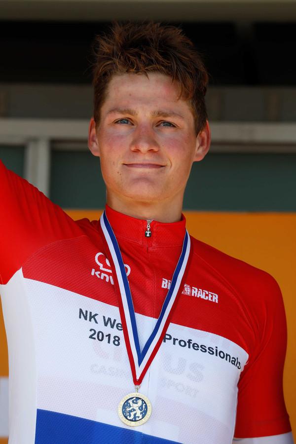 Nederlands wegkampioen in 2018: Mathieu van der Poel.