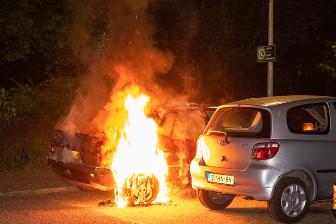 Hier de 19e Goudse autobrand aan de Plaswijckweg.