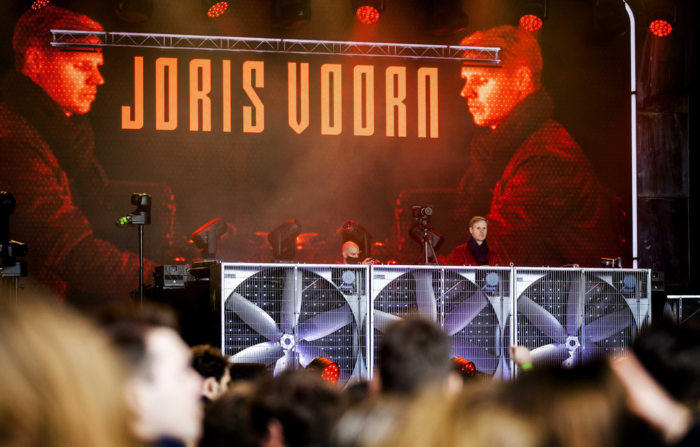 De Nederlandse dj Joris Voorn tijdens het dancefestival.