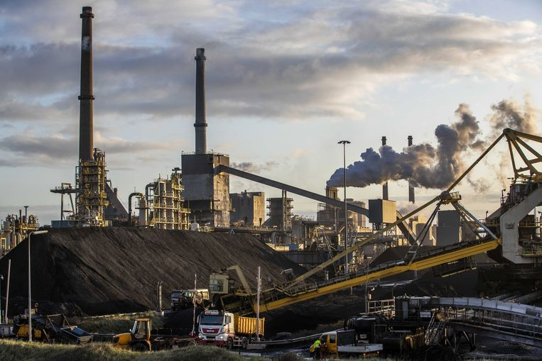 Tata Steel in IJmuiden. Beeld EPA