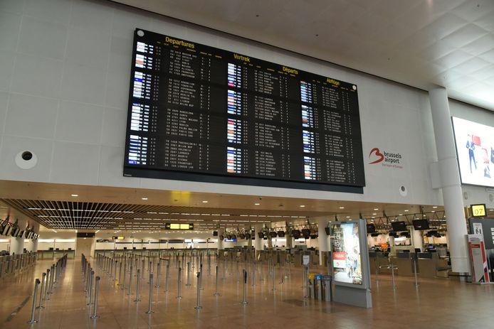 De luchthaven, waar de man 'woonde'