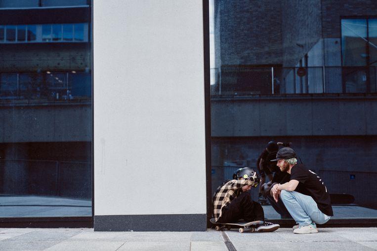 'Skaters steunen en respecteren elkaar, los van hun niveau', klinkt het in Gent. Beeld Thomas Sweertvaegher