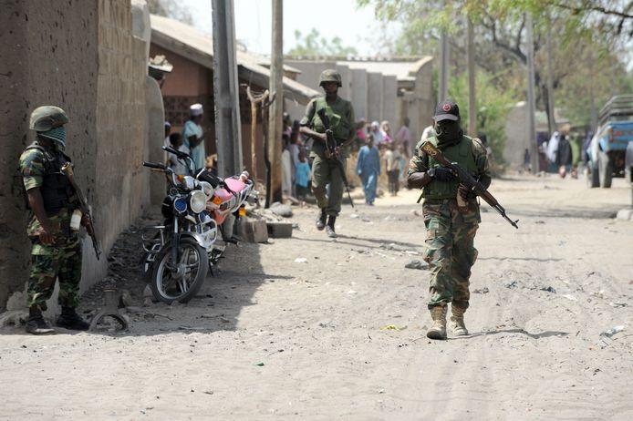 Archieffoto van militairen die de strijd met Boko Haram aangaan