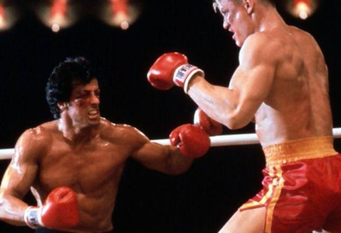 Rocky Balboa et Ivan Drago interprétés par Sylvester Stallone et Dolph Lundgren.