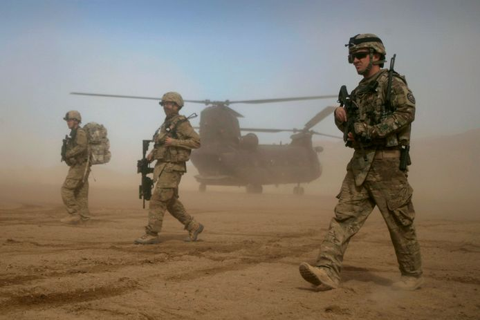 NAVO-militairen in Afghanistan.