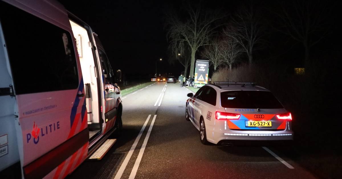 Voetganger overleden na verkeersongeluk in Woudrichem.