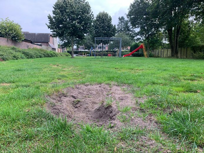 Buurtbewoners zijn boos op hondenbezitters die hun hond laten graven op speelveldje aan de Oranjestraat in Apeldoorn.