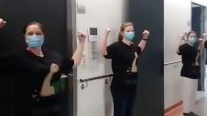 VIDEO. Verpleegkundigen UZA gaan viraal: al 210.000 mensen bekeken filmpje over ellebooggroet