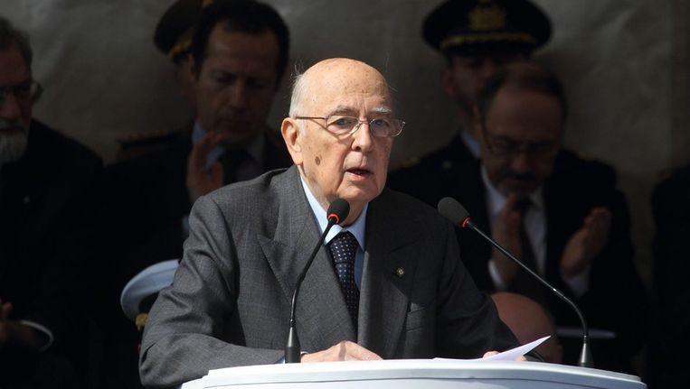Italiaanse president Giorgio Napolitano. Beeld epa