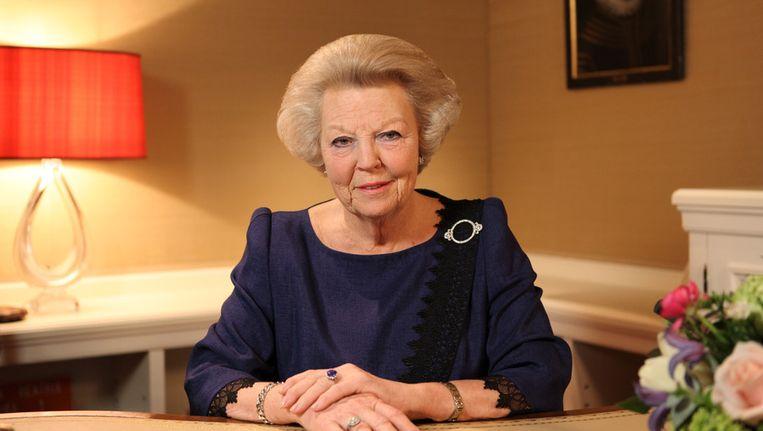 Koningin Beatrix maakt haar abdicatie bekend. Beeld getty