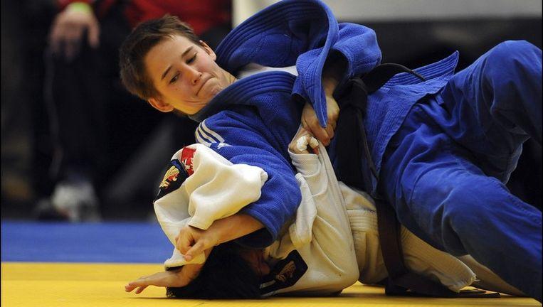 Amélie Rosseneu pakte brons in de klasse tot 48 kg. Beeld UNKNOWN