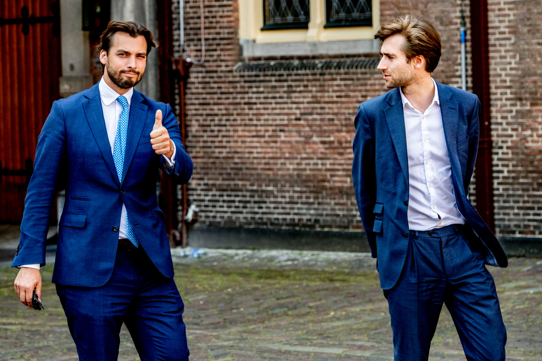 Thierry Baudet en Freek Jansen. Beeld Hollandse Hoogte / Robin Utrecht