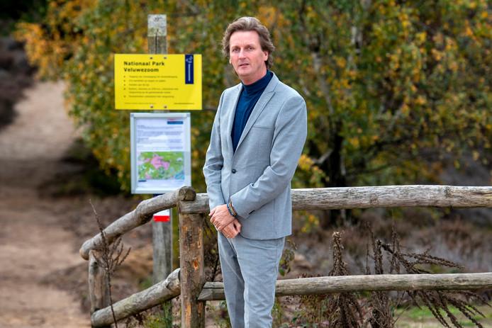 """VVD'er Ronald Haverkamp op de Posbank. ,,Mijn ouders stemden PvdA. Ik vroeger ook."""""""