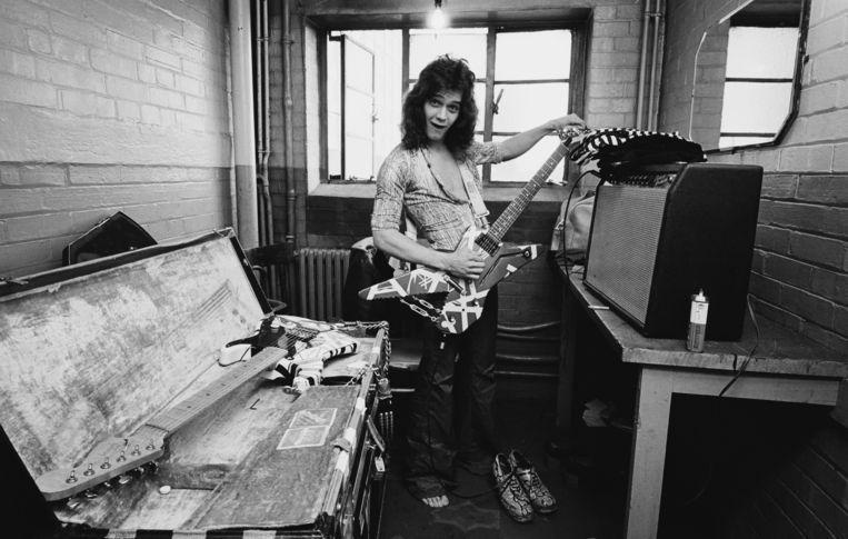 Eddie Van Halen in 1978 in Londen. Beeld Redferns