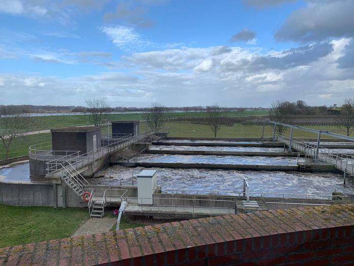 De rioolwaterzuiveringsinstallatie van Waterschap Rivierenland in Zaltbommel.