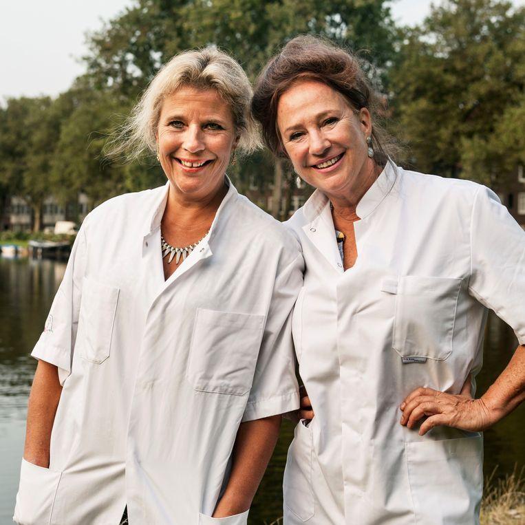 Wanda de Kanter en Pauline Dekker. Beeld Guus Dubbelman / de Volkskrant