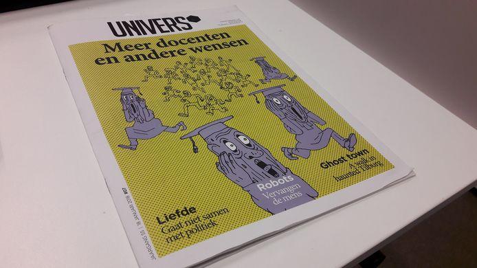 De cover van de meest recente Univers als magazine.