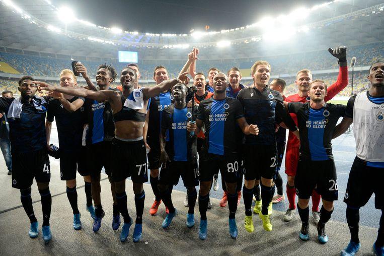 Club Brugge strijdt nog om in de meest prestigieuze Europese competitie te raken.  Beeld Photo News