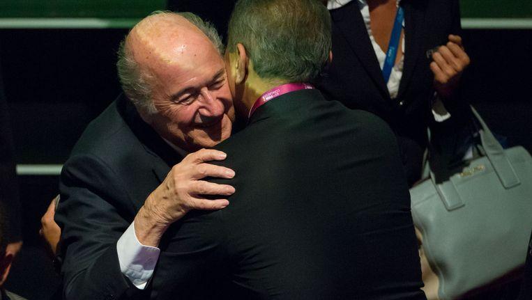Huidig FIFA-voorzitter Sepp Blatter volgt naar alle waarschijnlijkheid zichzelf op. Beeld GETTY