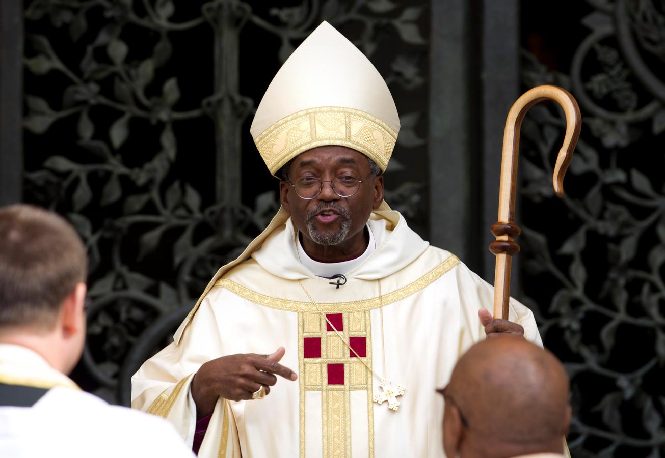 Bisschop Michael Curry van de Episcopaalse kerk in Washington.