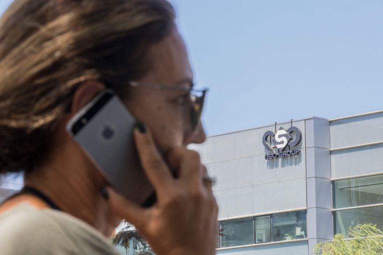 Het gebouw in Tel Aviv waar de NSO Group kantoor houdt in 2016. Beeld AFP