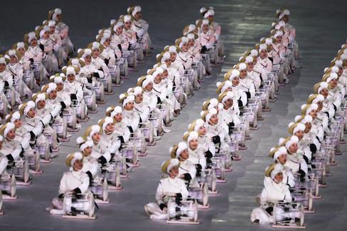 Foto van Zang, dans en politiek: de openingsceremonie van de Winterspelen in beeld