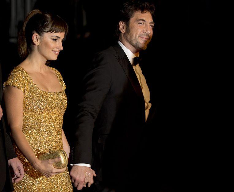 Het Spaanse acteurskoppel Penélope Cruz en Javier Bardem bleek fout geclassificeerd en 'zijn wit'. Beeld anp