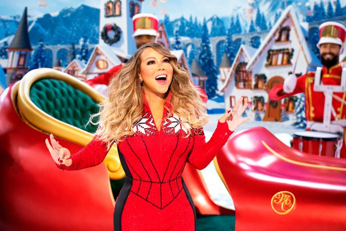 Mariah Carey, a.k.a. de koningin van de kerst, tijdens haar special 'Mariah Carey's Magical Christmas Special' voor Apple TV+