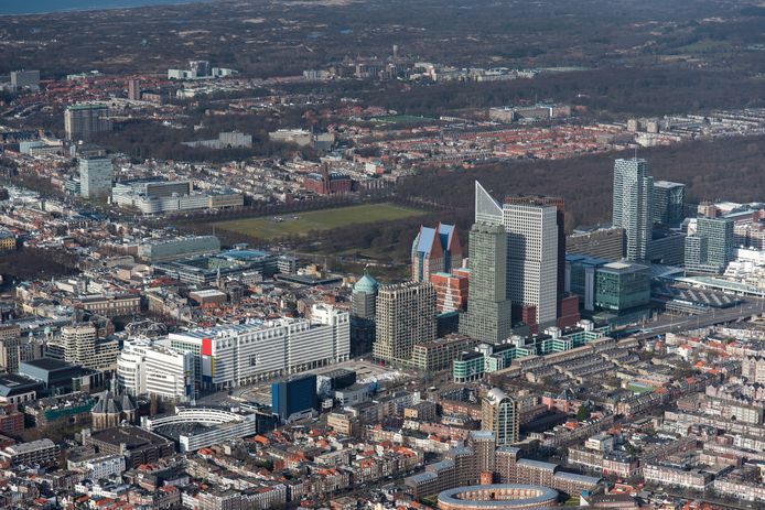 Den Haag vanuit de lucht.