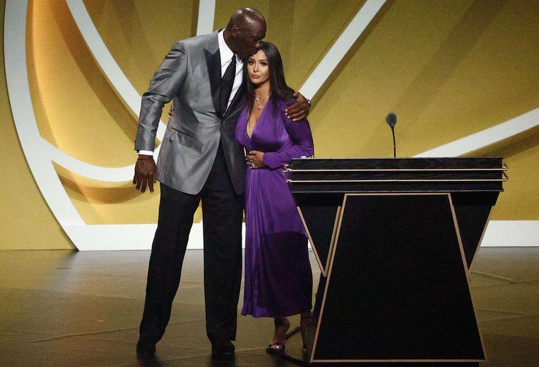 Vanessa Bryant en Michael Jordan. Beeld AFP