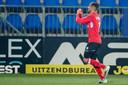 Karim Loukili viert zijn 0-2.