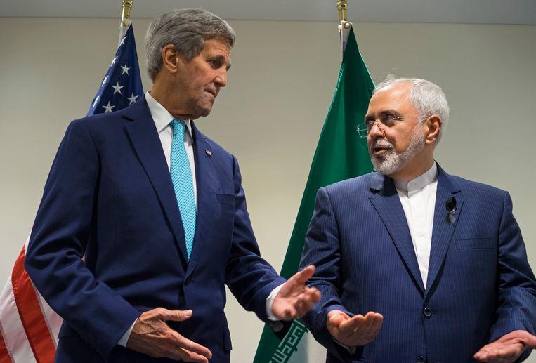 John Kerry en Javad Zarif
