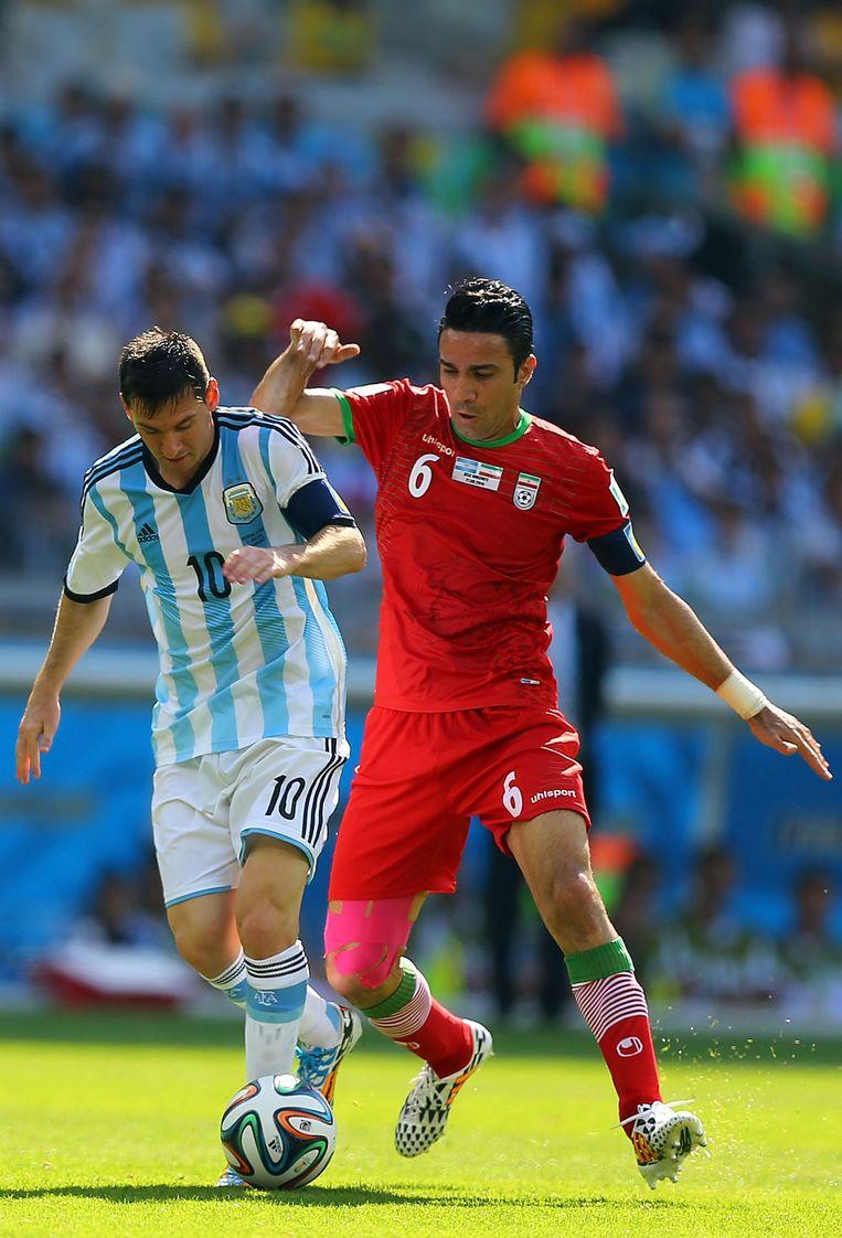 Messi in de wedstrijd tegen Iran Beeld getty