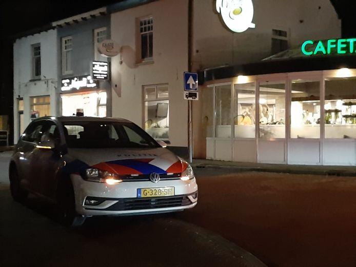 In Geldermalsen is veel politie op straat.