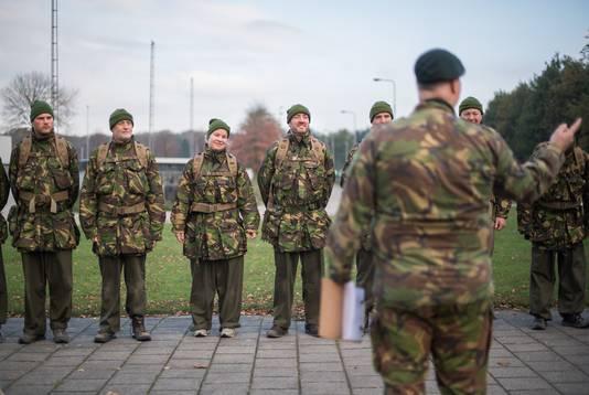 De militaire basis in Schaarsbergen.