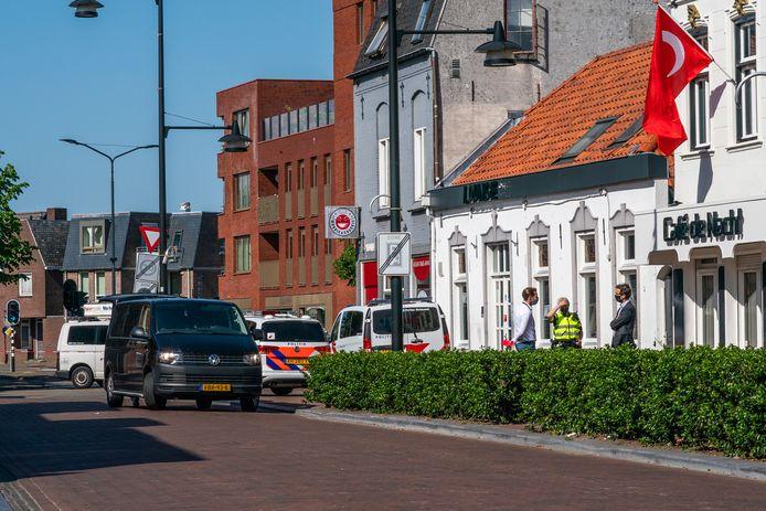 Onderzoek in de Markstraat in Helmond.