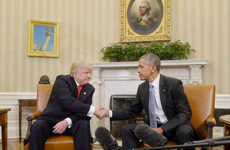 'Donald Trump heeft geen zin om de macht over te dragen, en daardoor zal de regering- Biden het lastiger hebben om vanaf dag één voluit de pandemie en de economische crisis te bestrijden.' Beeld Douliery Olivier/ABACA