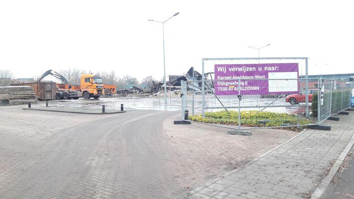Klanten worden verwezen naar de vestiging aan de andere kant van Apeldoorn.