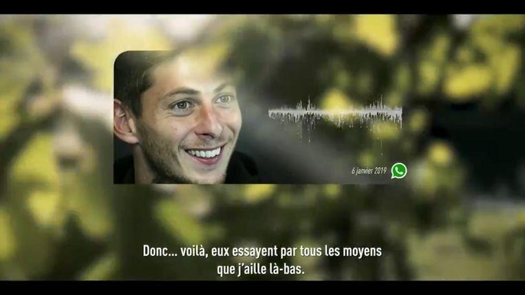De audioboodschap van Emiliano Sala.