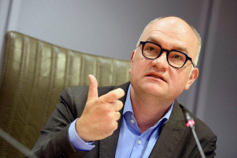 Björn Rzoska (Groen), voorzitter van de coronacommissie in het Vlaams Parlement. Beeld Photo News