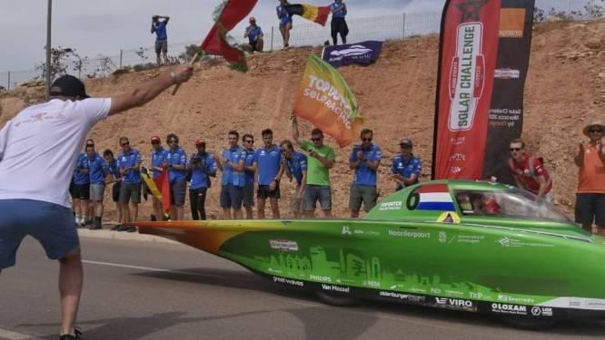 Nederlanders finishen succesvol achter Belgische zonneauto in Marokko